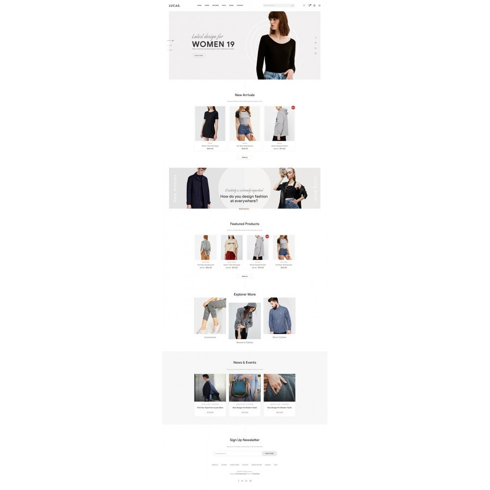 theme - Mode & Chaussures - Lucas - Premium Fashion Theme - 6