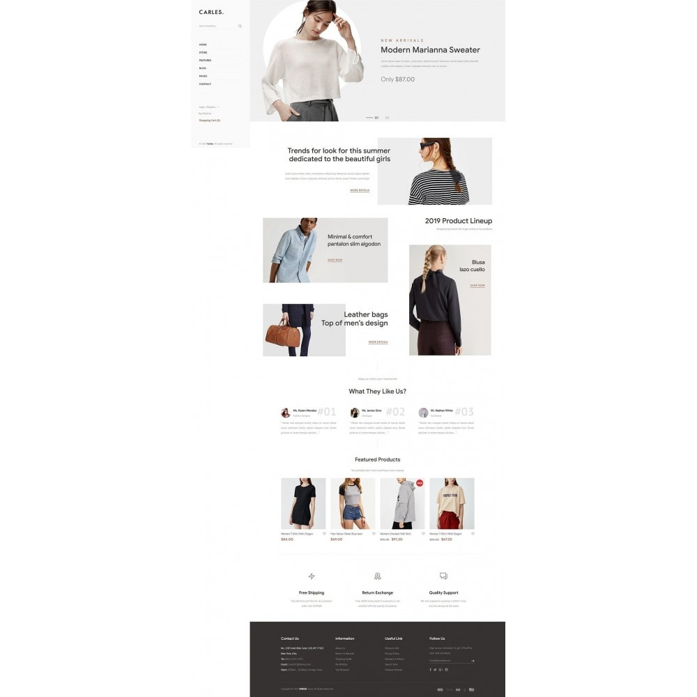 theme - Fashion & Shoes - Carles - Modern Fashion Theme - 8