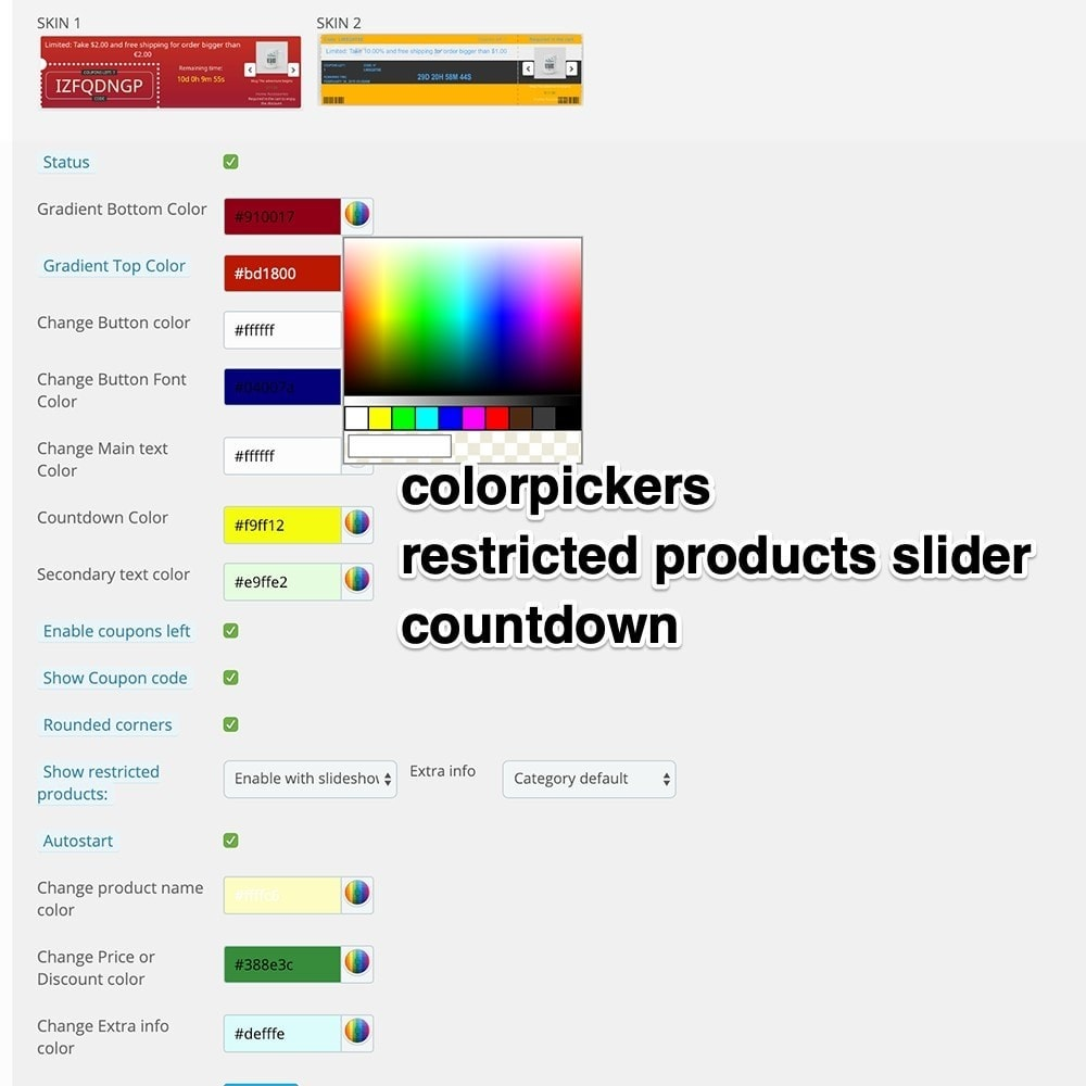 module - Promotions & Cadeaux - Coupons Banner with countdown (Groupon) - 12