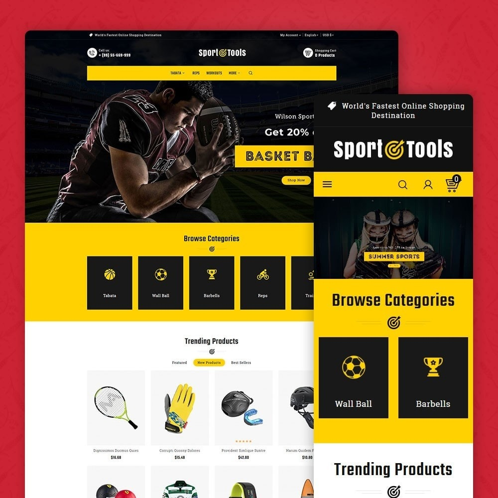 theme - Sport, Activiteiten & Reizen - Sport Tools & Equipment - 1