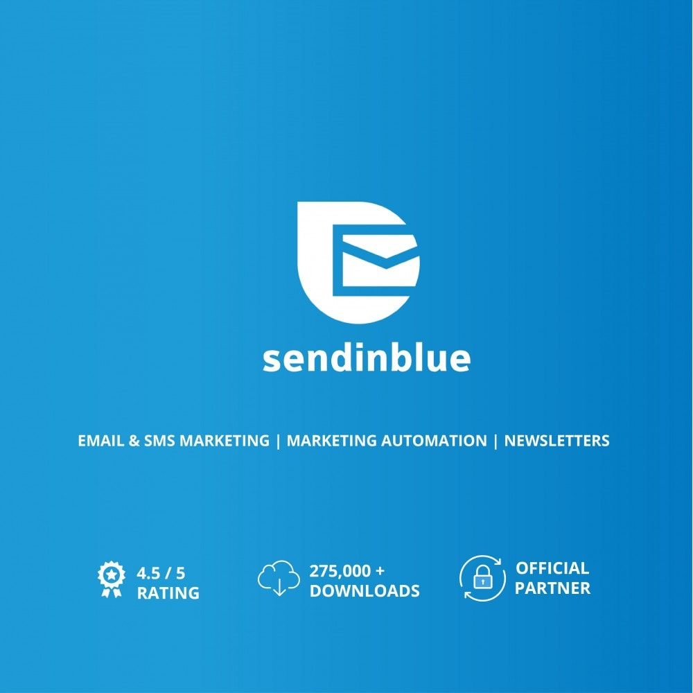 module - Newsletter & SMS - SendinBlue - Email Marketing - 1