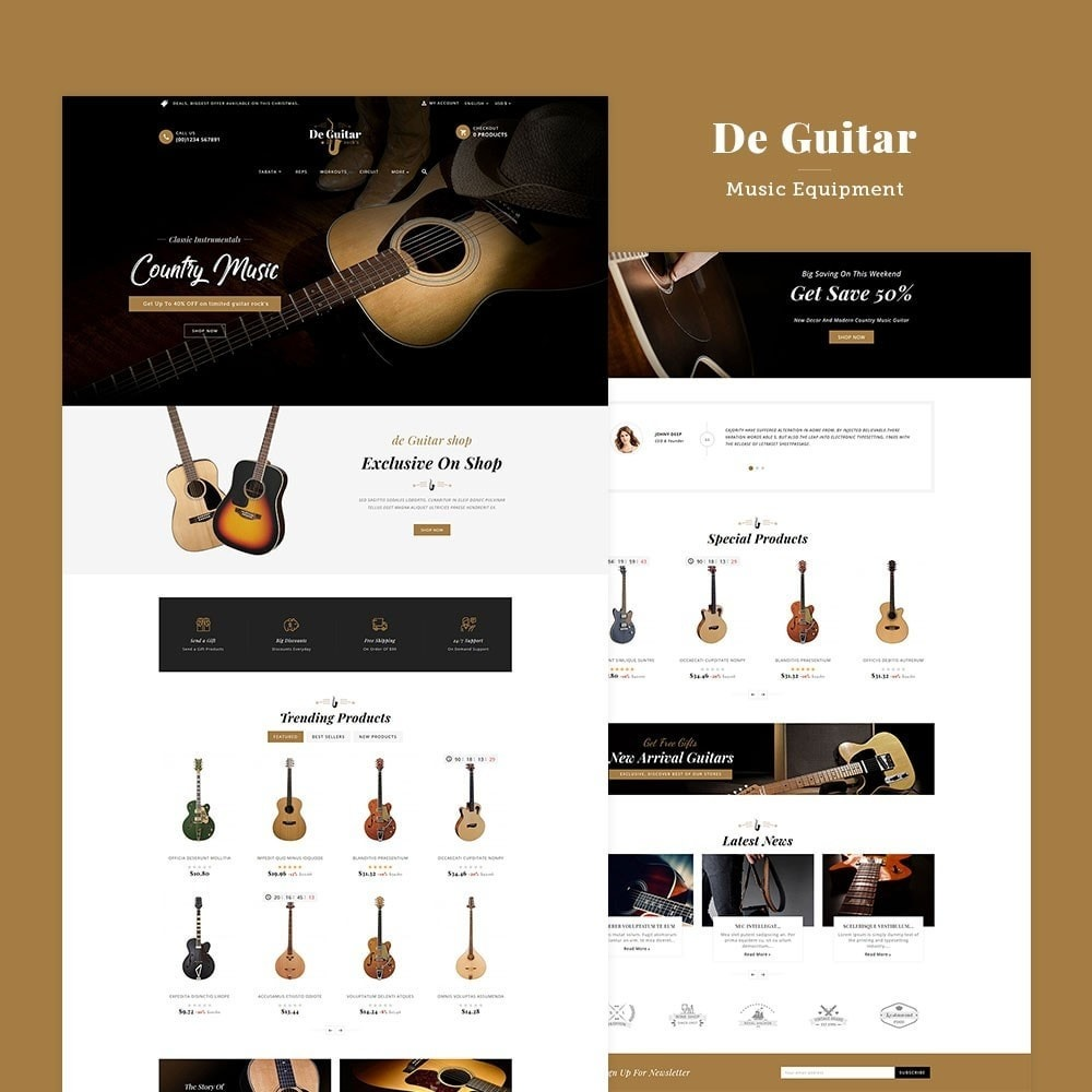 theme - Arte y Cultura - De Guitar & Music Instruments - 2