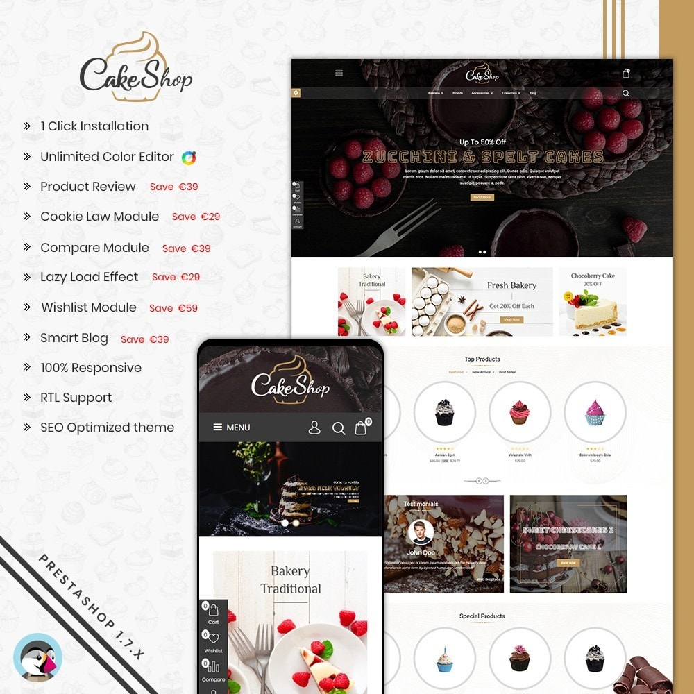 theme - Alimentation & Restauration - Bakery & Cake Shop - 1