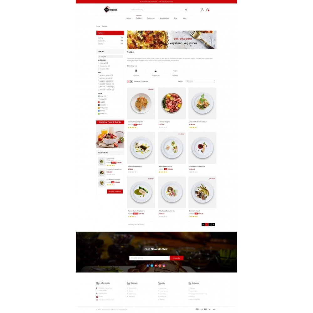 theme - Продовольствие и рестораны - Food Square - Restaurant Store - 3