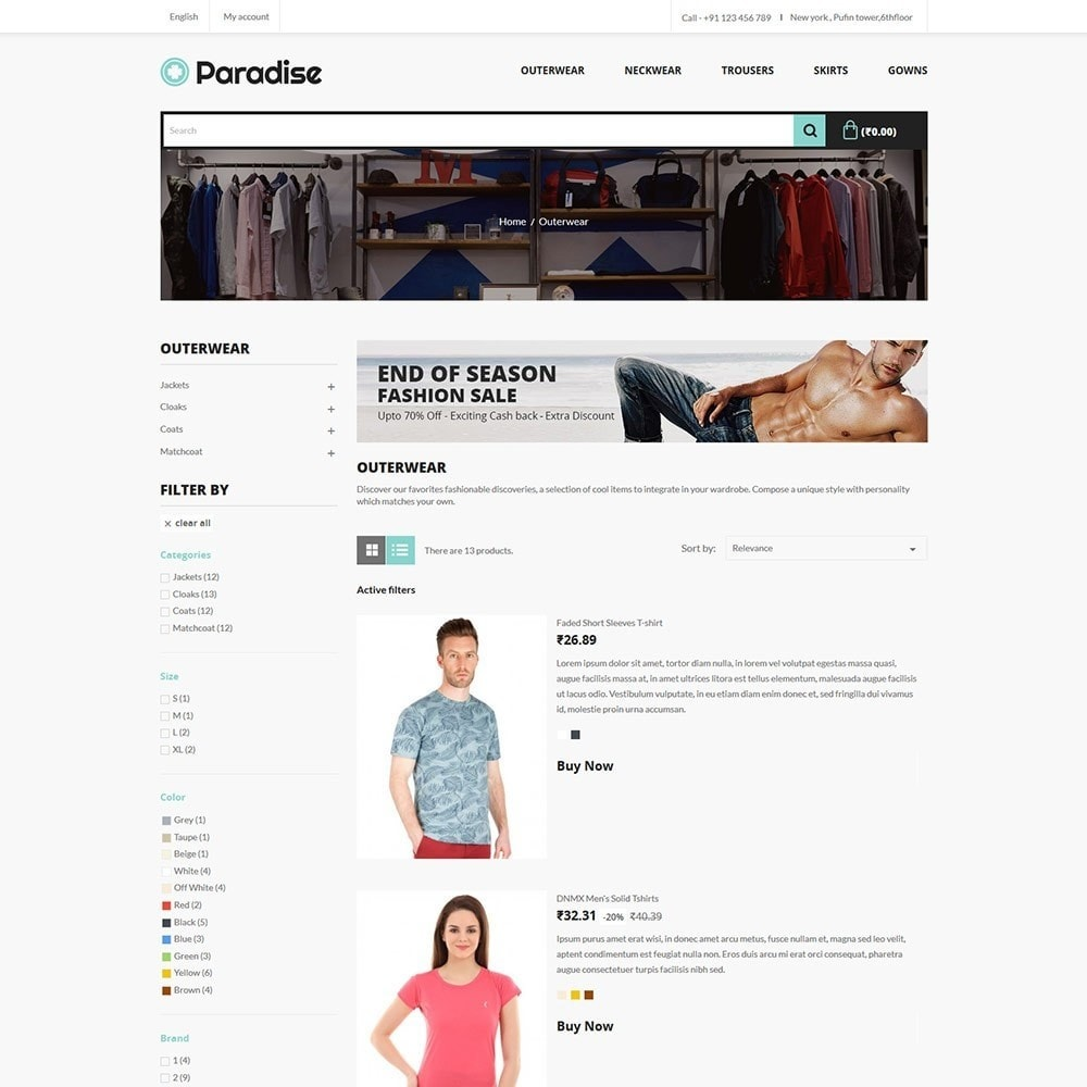 theme - Fashion & Shoes - Paradise Fashion - Apparels Store - 4