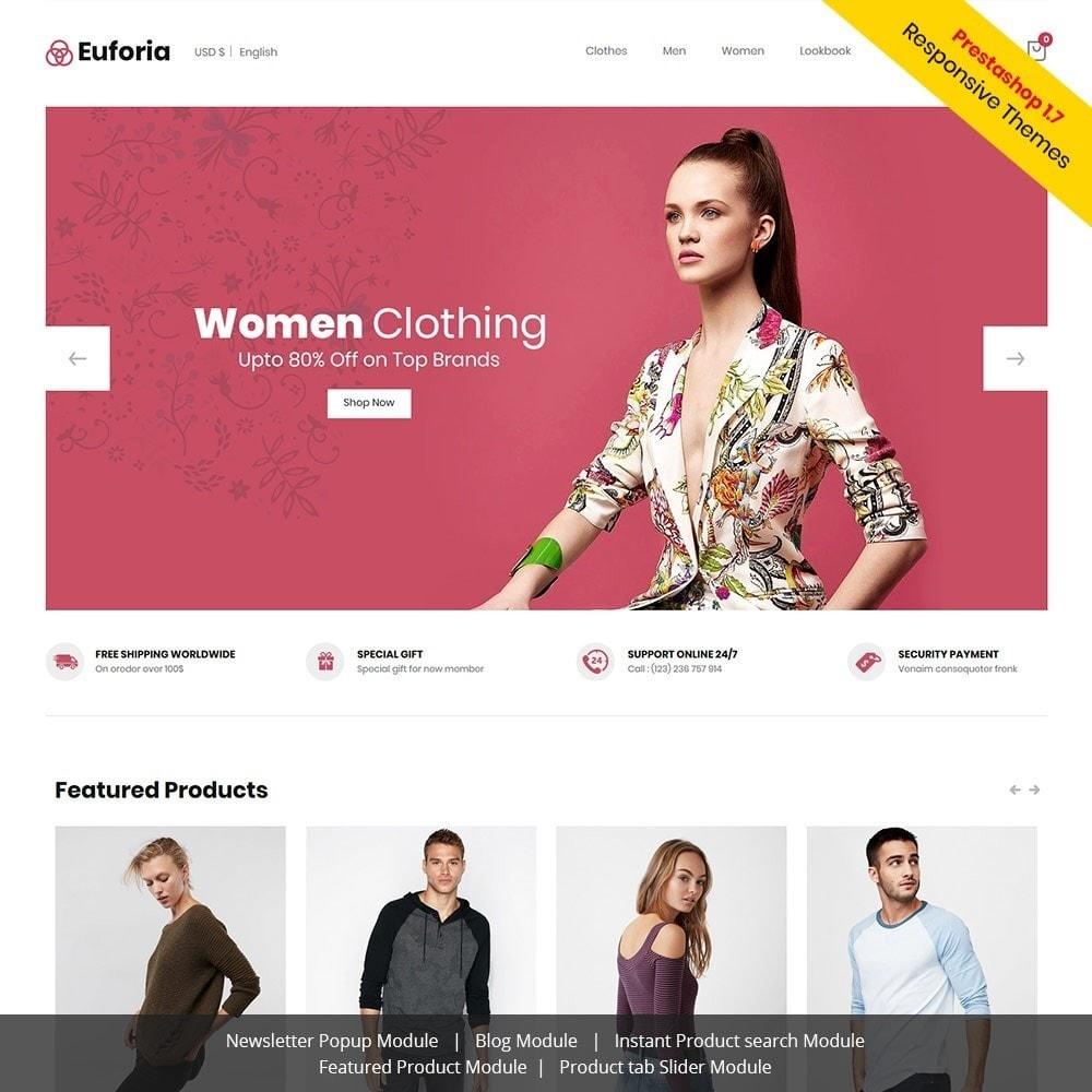 theme - Moda & Calzature - Euforia Designer  - Fashion Cloth  Store - 1