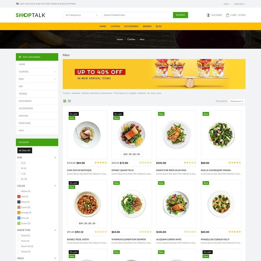 theme - Food & Restaurant - ShopTalk Food Store - 4