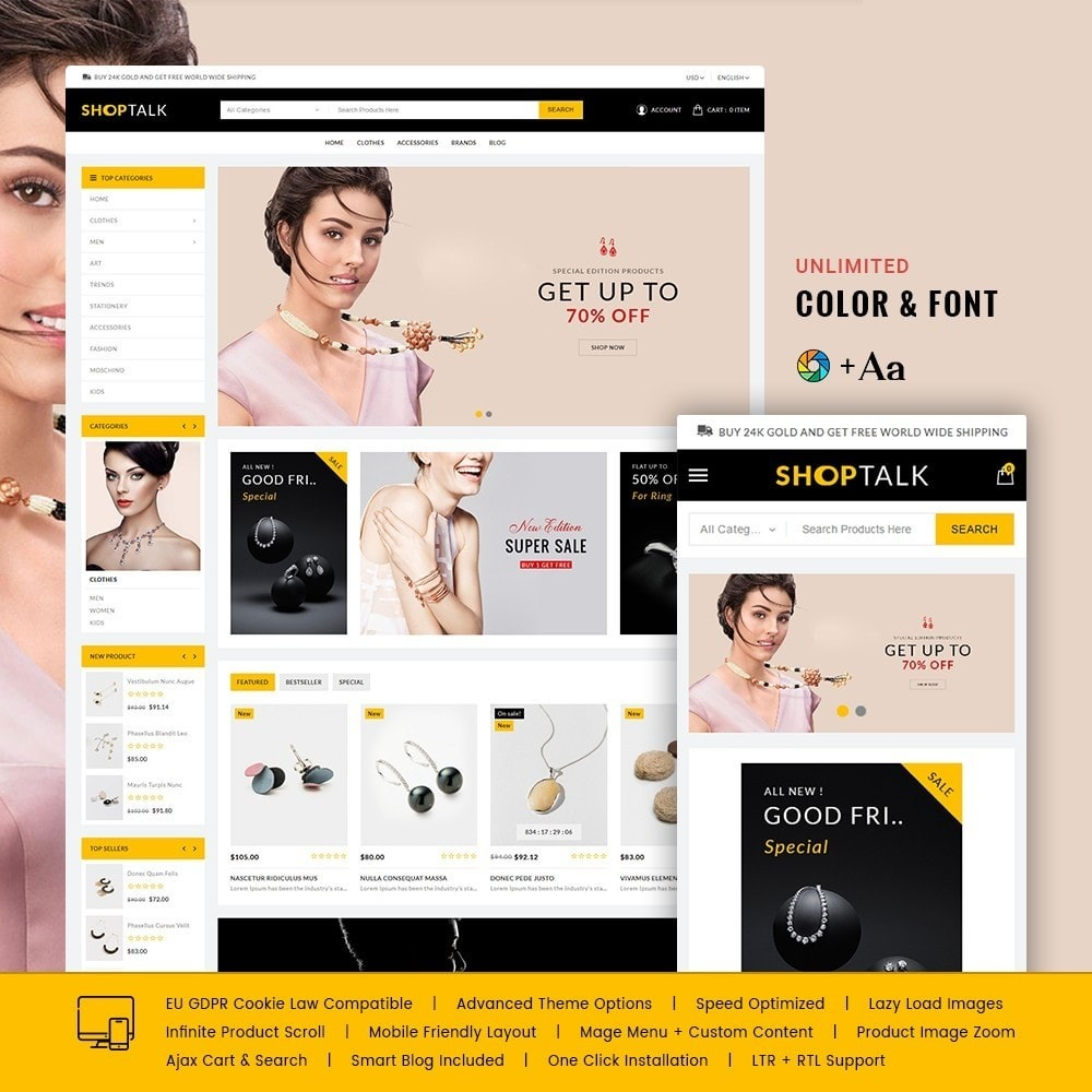 theme - Jewelry & Accessories - ShopTalk Jewellery Store - 1