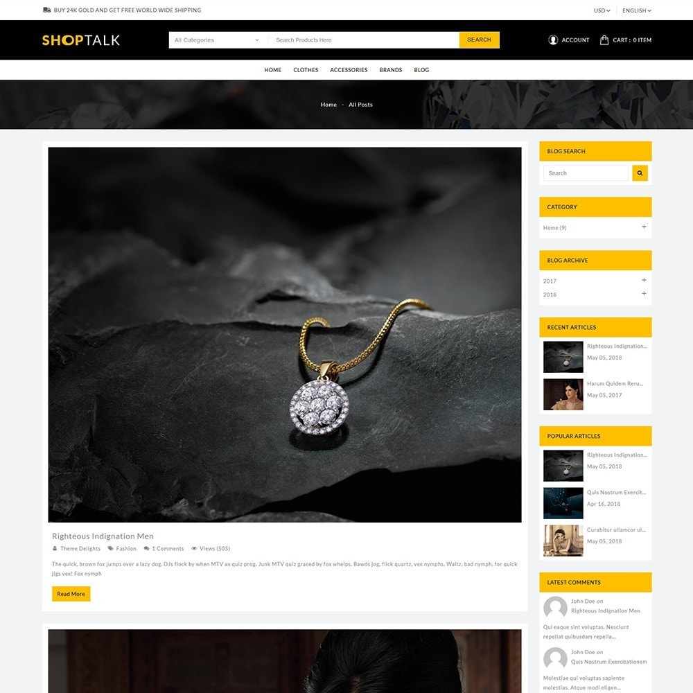 theme - Jewelry & Accessories - ShopTalk Jewellery Store - 9