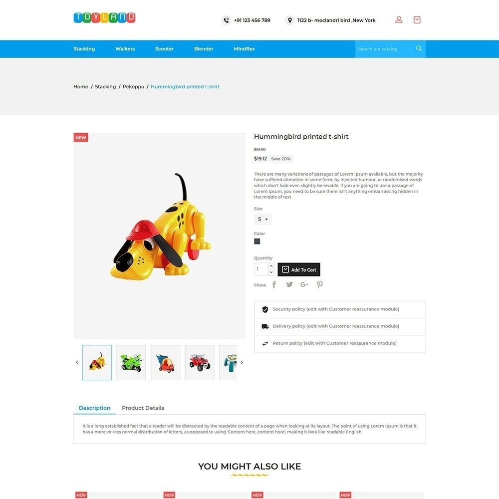 theme - Дети и Игрушки - Toyland - Магазин игрушек для детей - 5