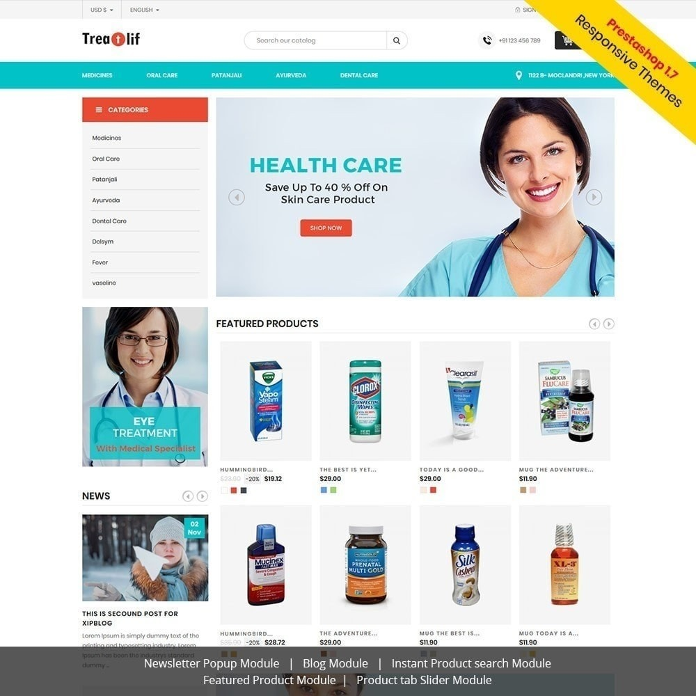 theme - Gesundheit & Schönheit - Treat Life - Geschäft für medizinische Drogerien - 2