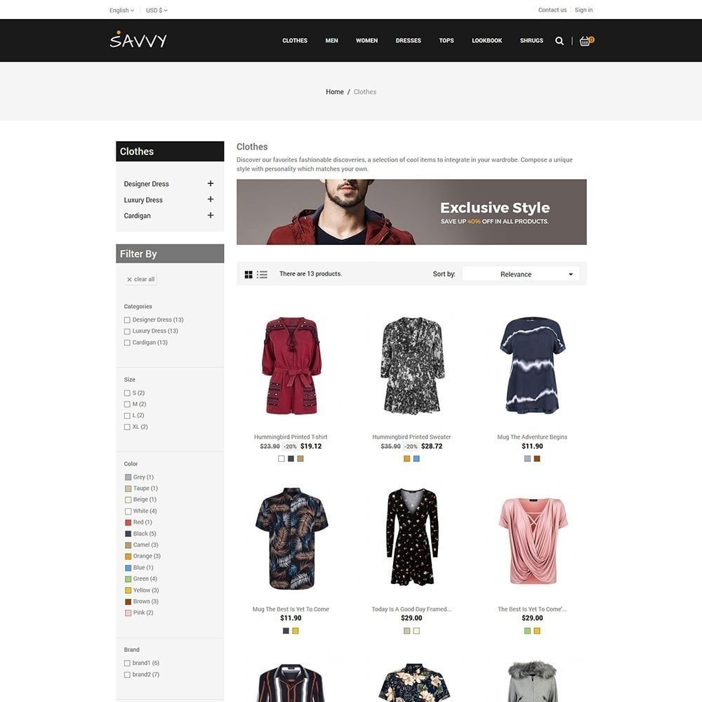 theme - Mode & Chaussures - Savvy Designer - Magasin de mode - 4