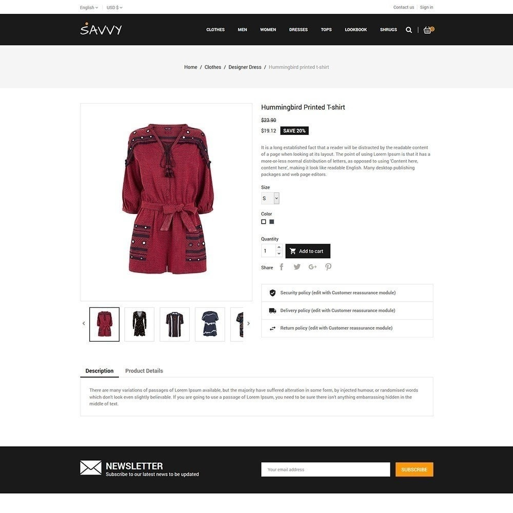 theme - Mode & Chaussures - Savvy Designer - Magasin de mode - 6