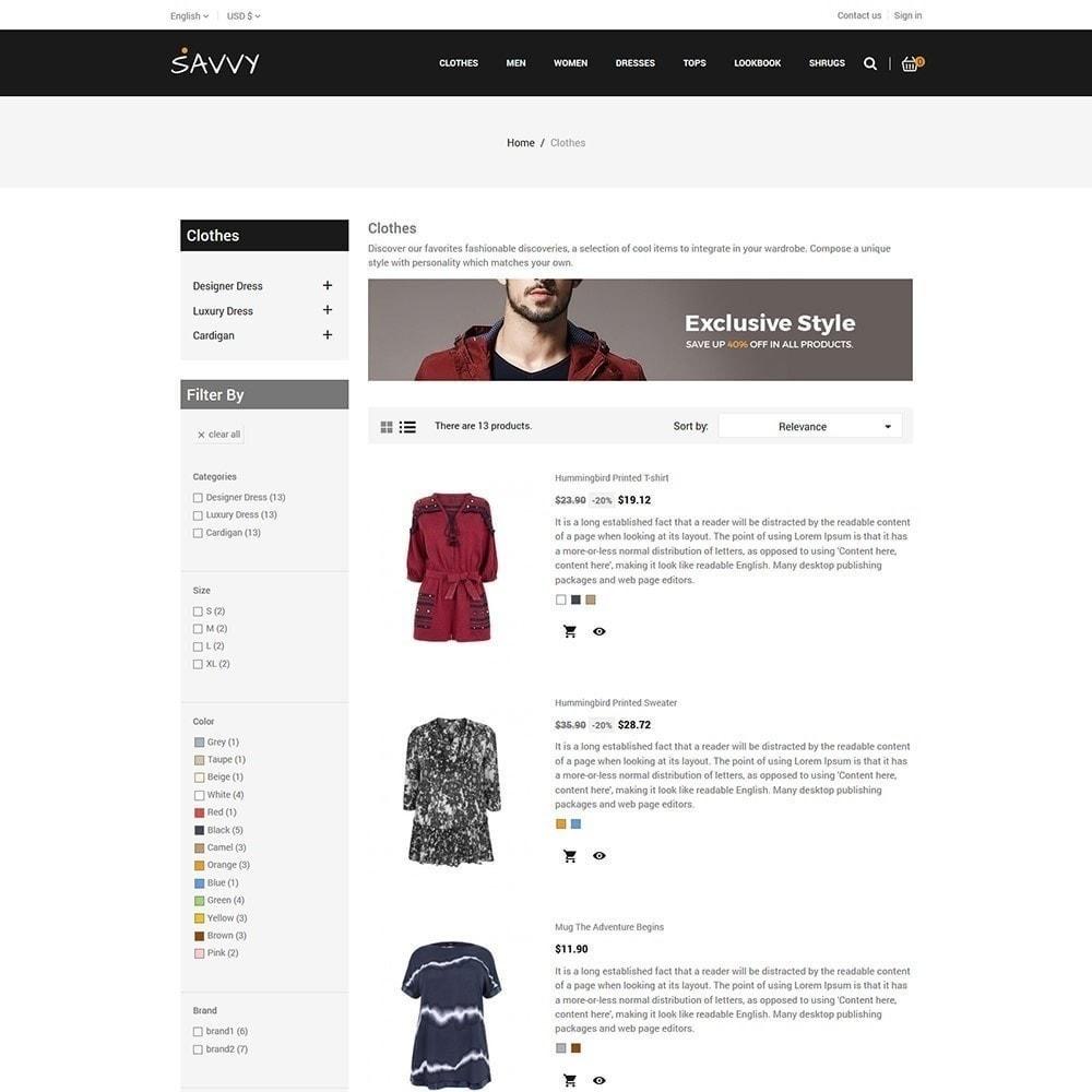 theme - Moda y Calzado - Savvy Designer - Tienda de moda - 5
