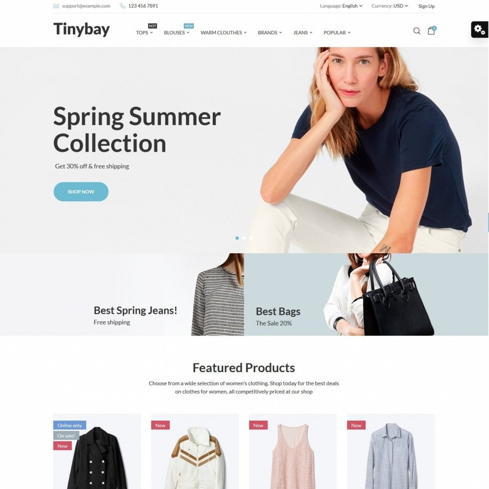 theme - Mode & Chaussures - Tinybay Fashion Store - 1