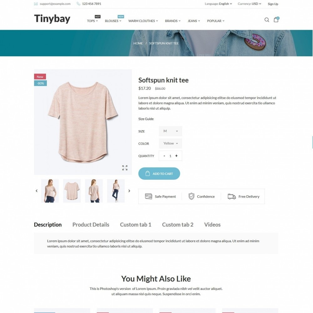 theme - Mode & Chaussures - Tinybay Fashion Store - 5
