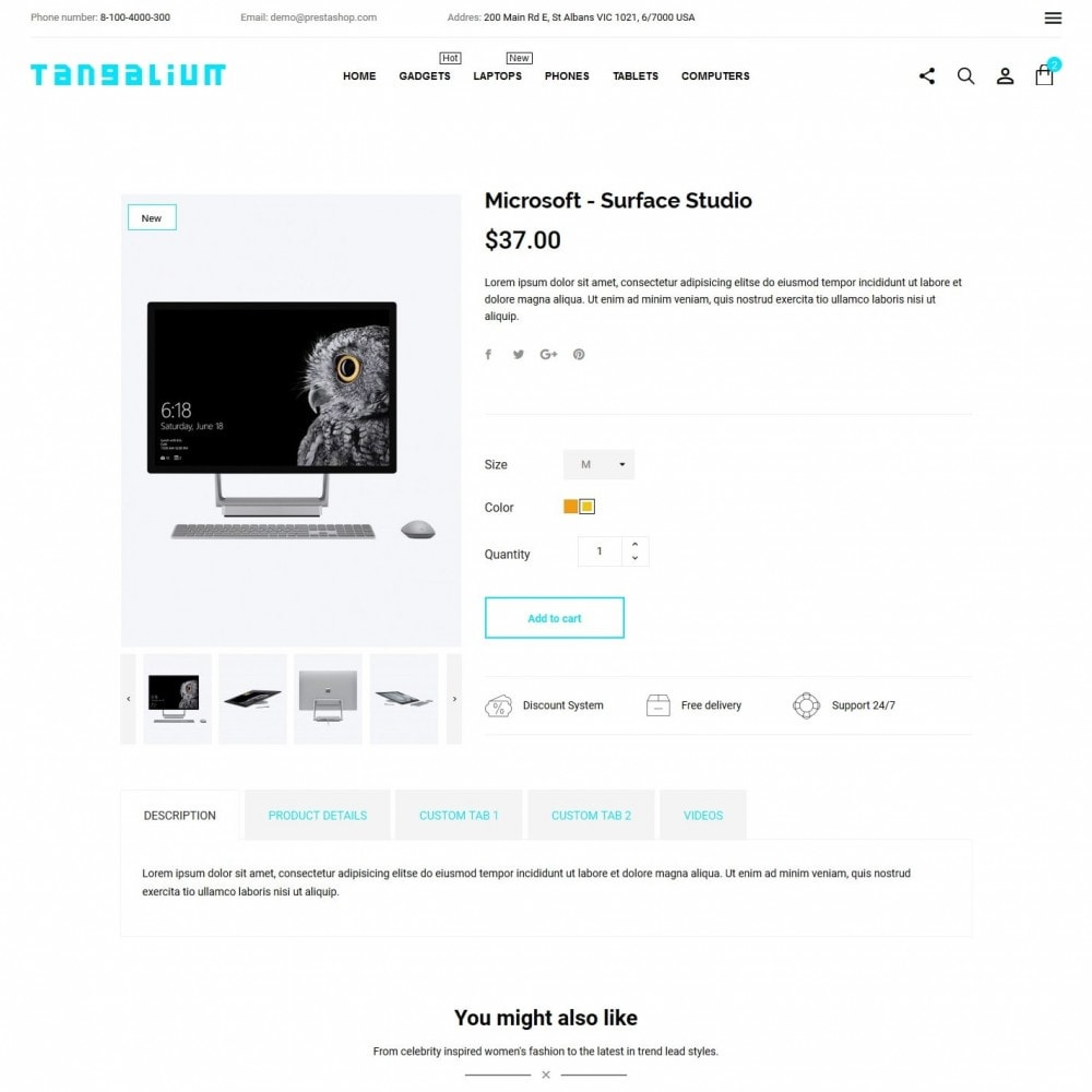 theme - Electronics & Computers - Tangalium - High-tech Shop - 6
