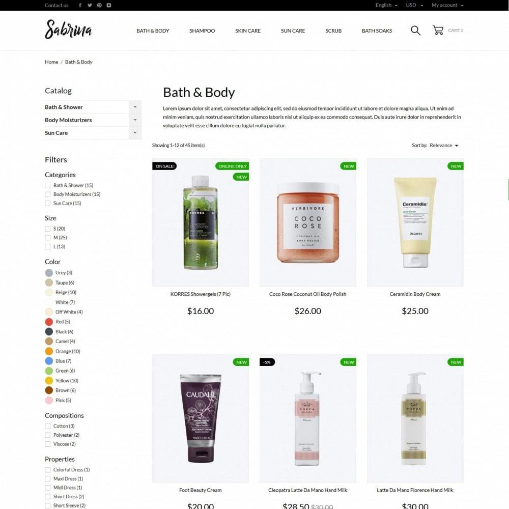 theme - Health & Beauty - Sabrina Cosmetics - 5