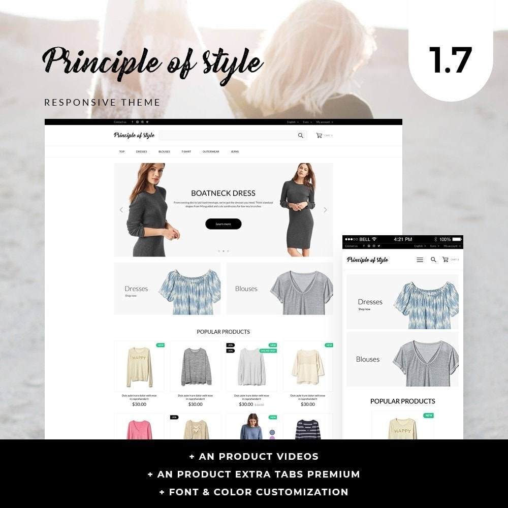 theme - Fashion & Shoes - Principle of style Fashion Store - 1