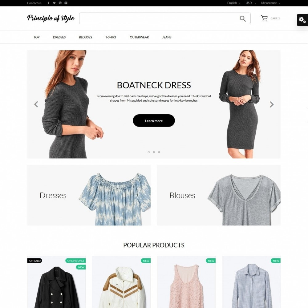 theme - Fashion & Shoes - Principle of style Fashion Store - 2