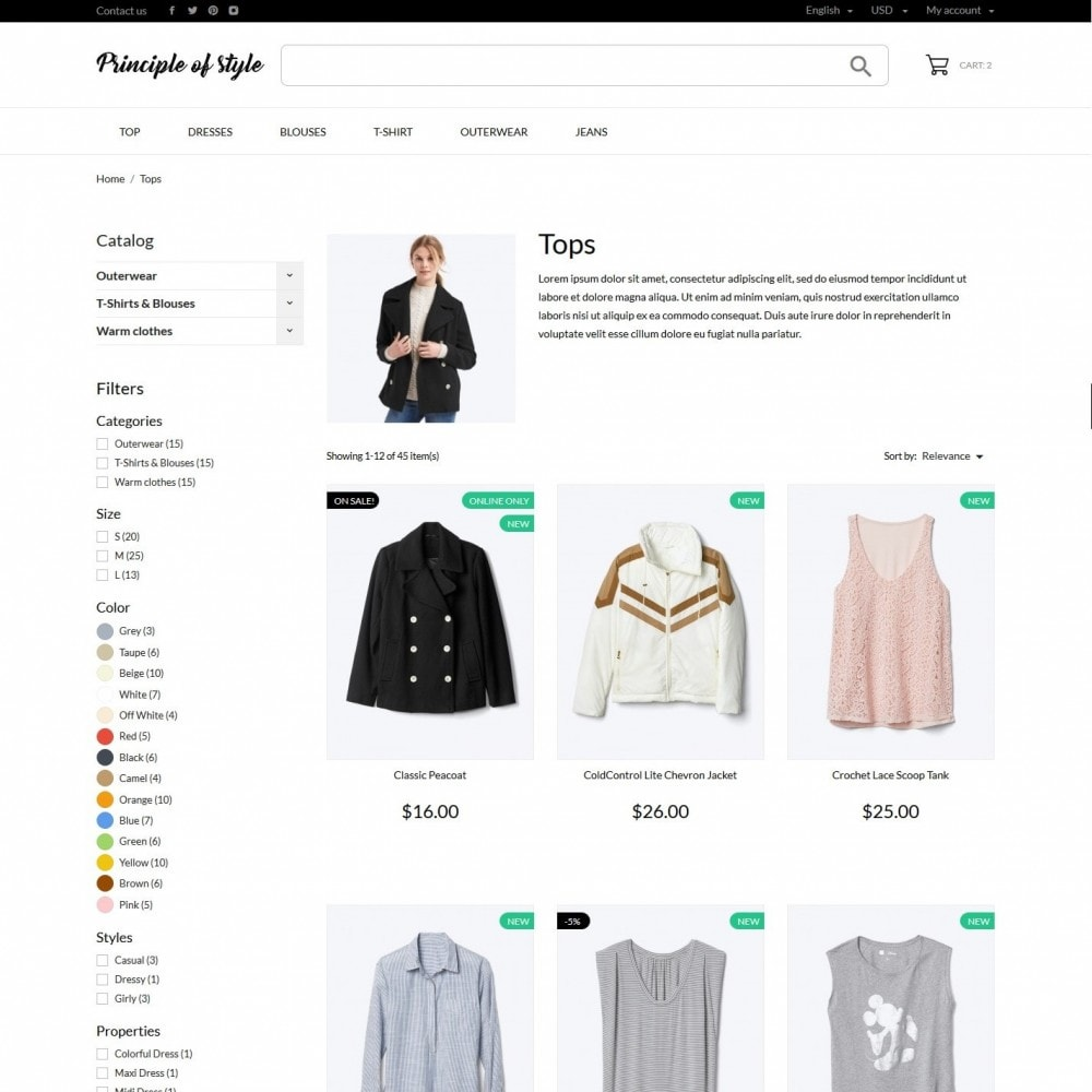 theme - Mode & Chaussures - Principle of style Fashion Store - 5