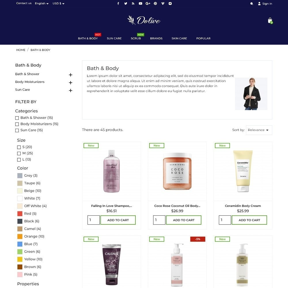 theme - Health & Beauty - Dolive Cosmetics - 6