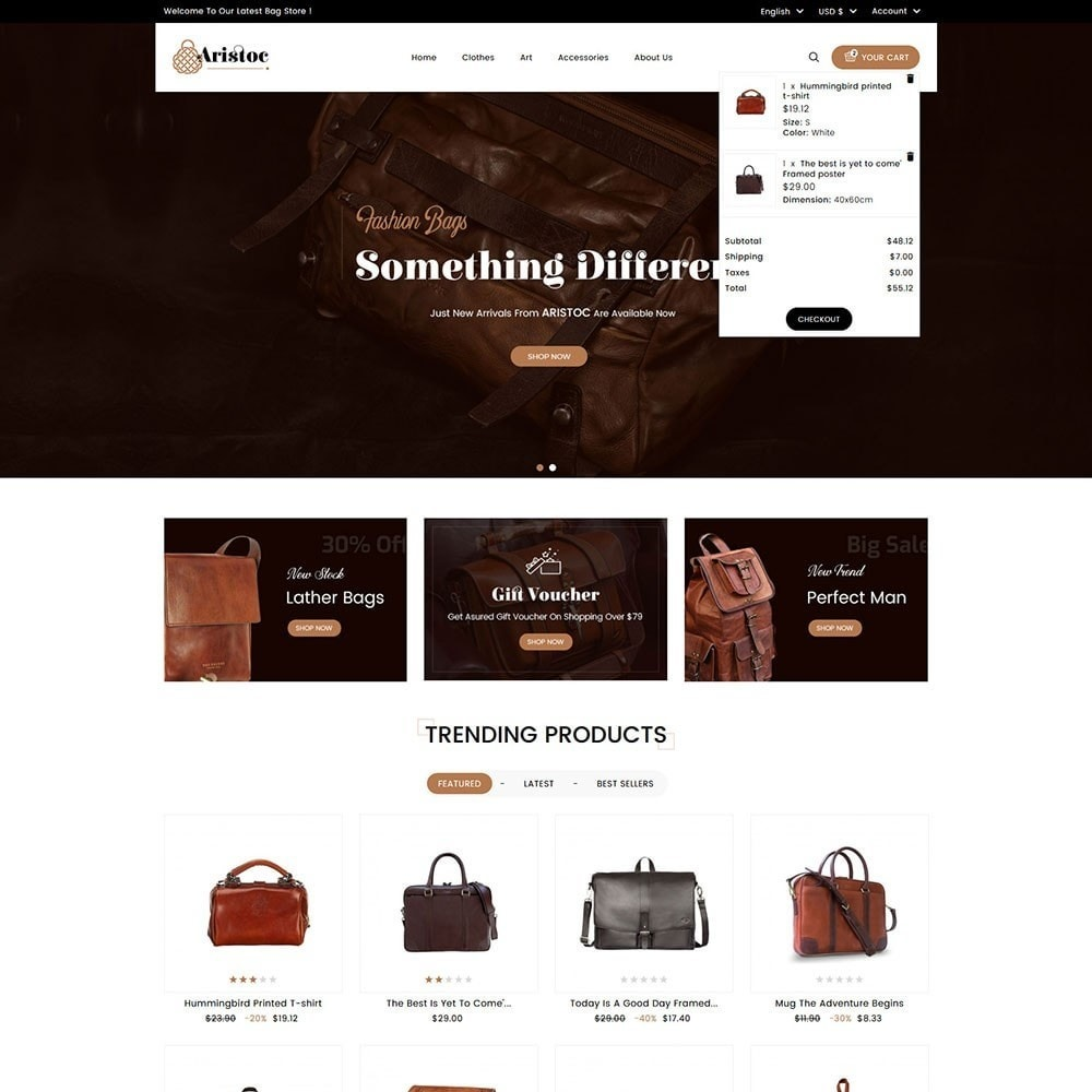 theme - Fashion & Shoes - Aristoc Bag Store - 3
