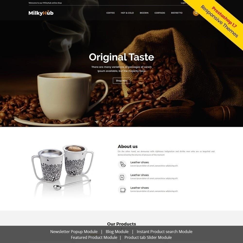 theme - Gastronomía y Restauración - Milkyhub Drink - Tienda De Café - 2