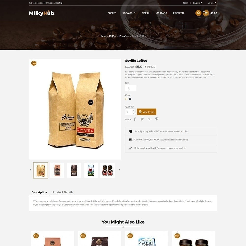 theme - Eten & Restaurant - Milkyhub Drink -Coffee Store - 6