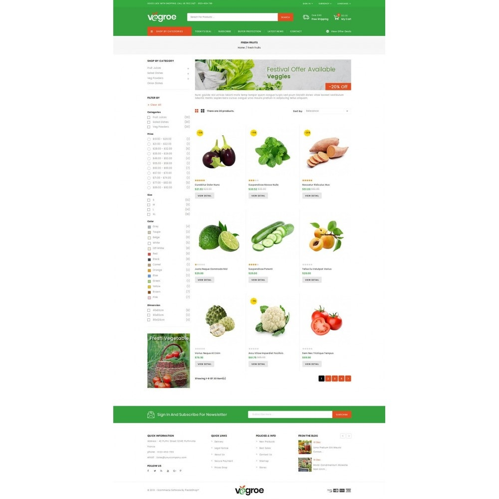 theme - Food & Restaurant - Vegroe - Grocery Store - 3