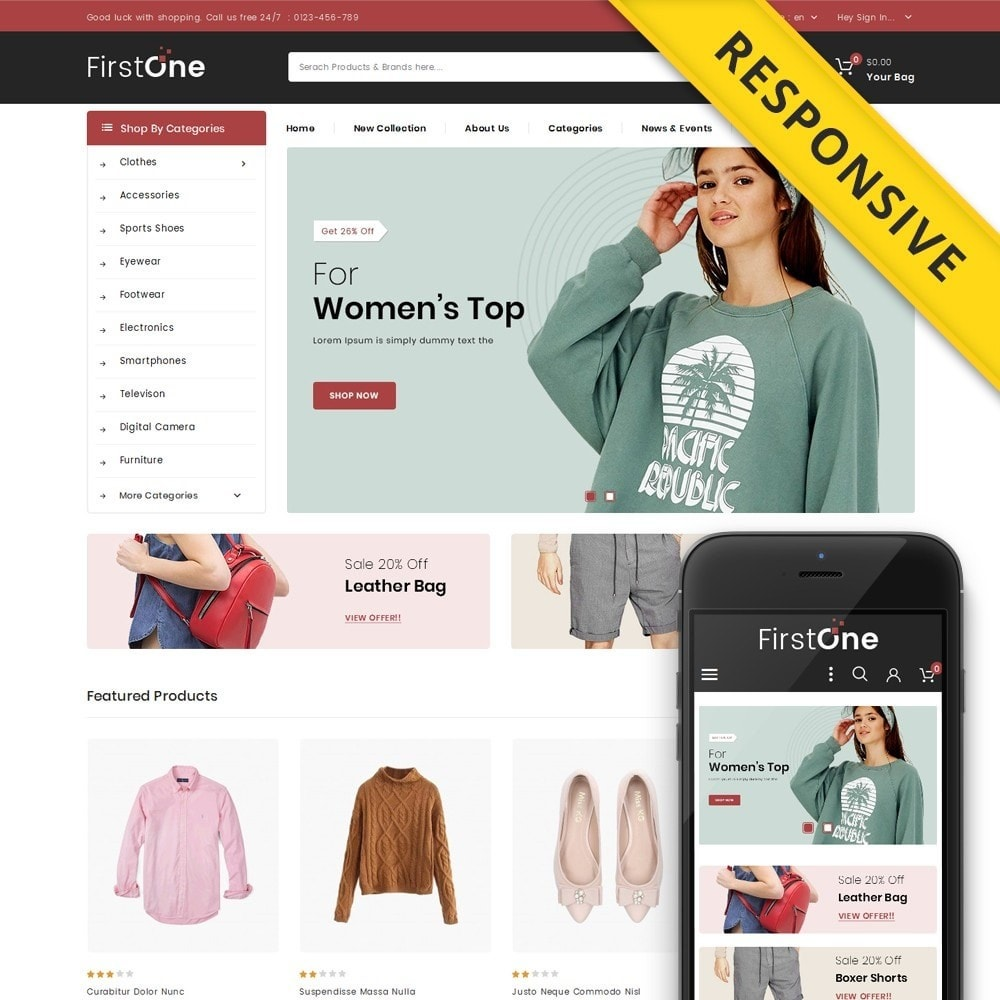 theme - Moda & Obuwie - FirstOne - Fashion Shop - 1