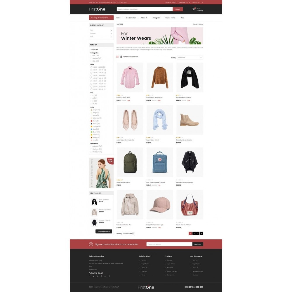 theme - Moda & Obuwie - FirstOne - Fashion Shop - 3