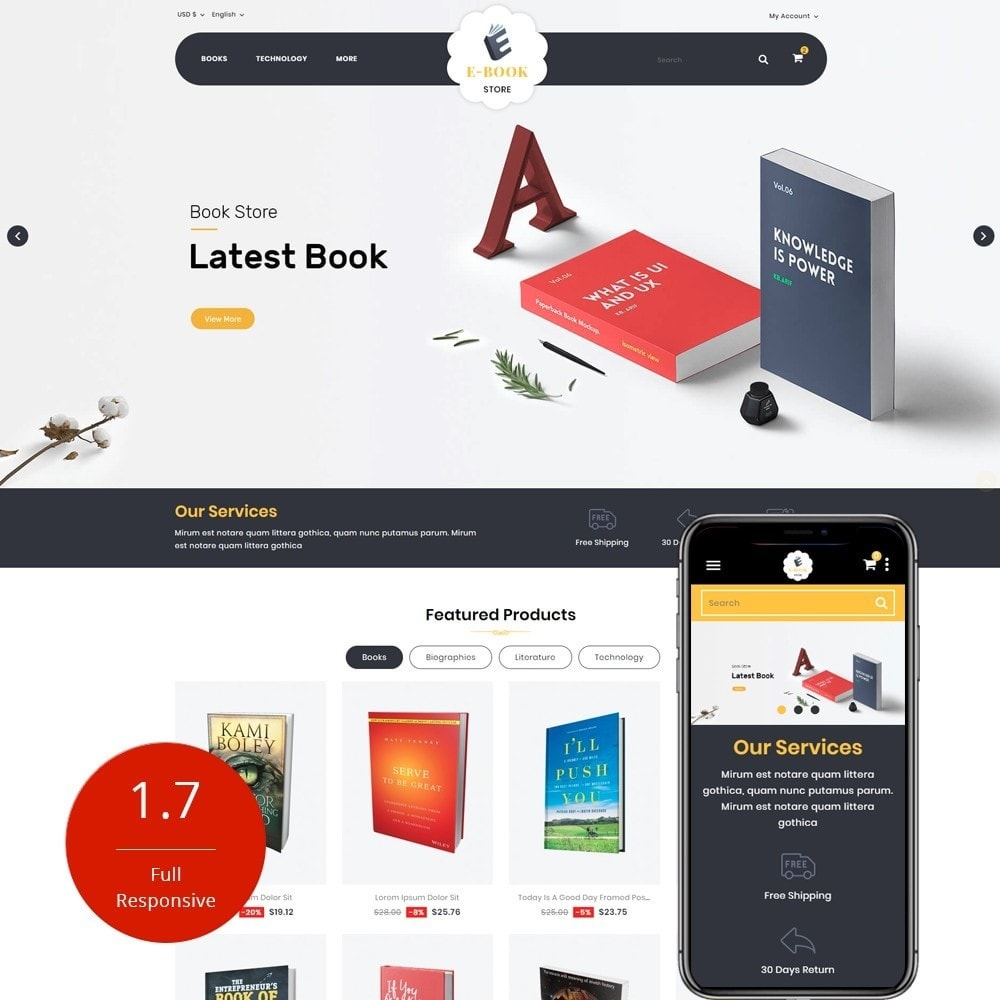 theme - Sports, Activities & Travel - E-Book Store - 1