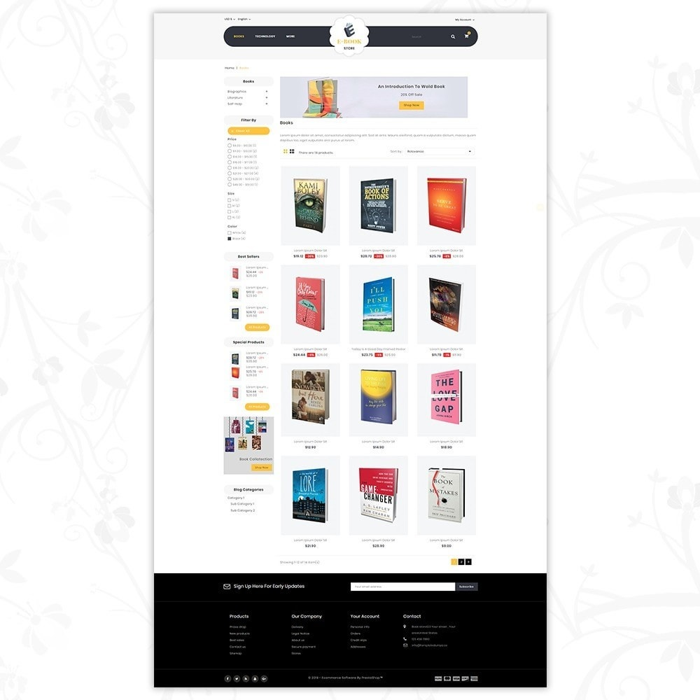 theme - Sports, Activities & Travel - E-Book Store - 3