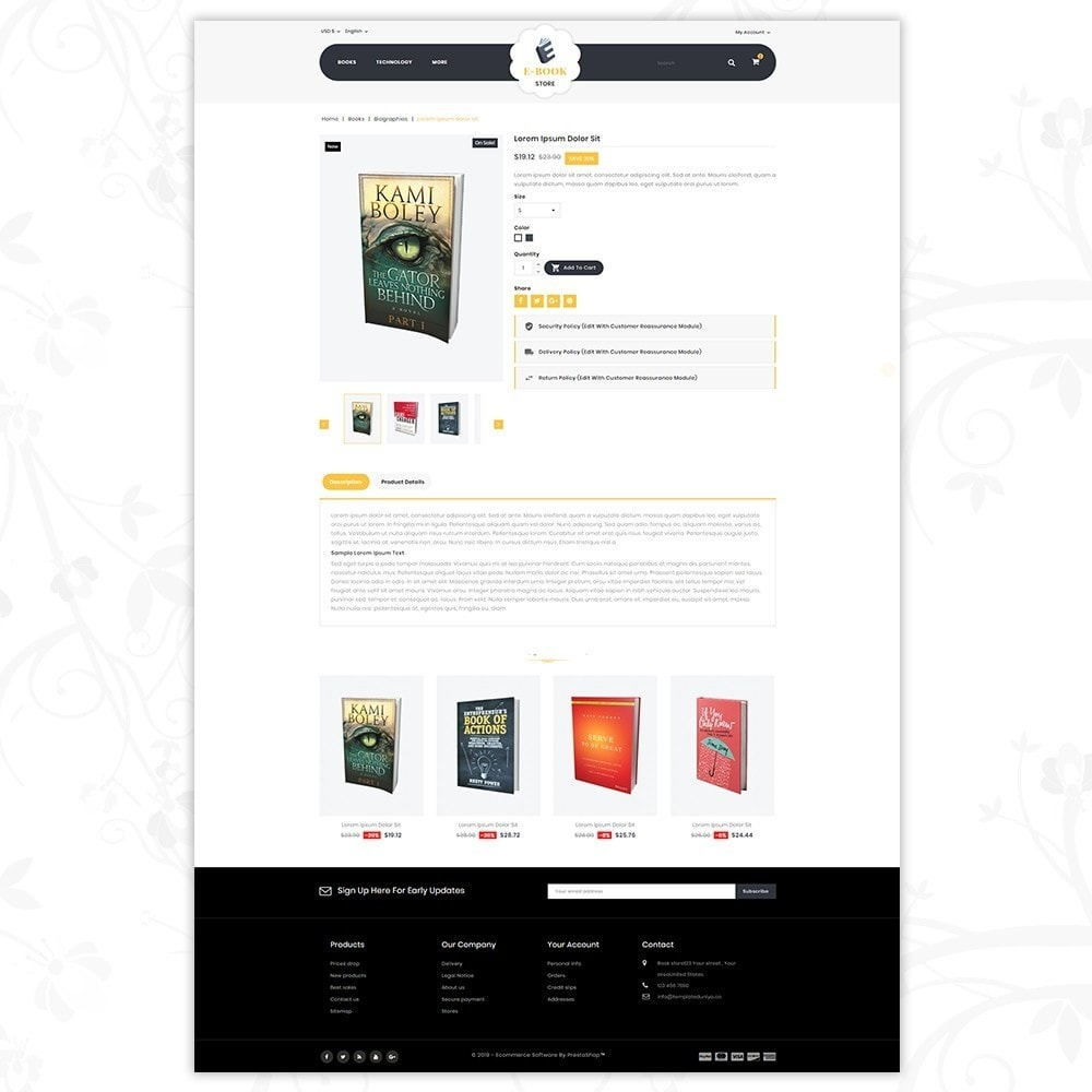 theme - Sports, Activities & Travel - E-Book Store - 5