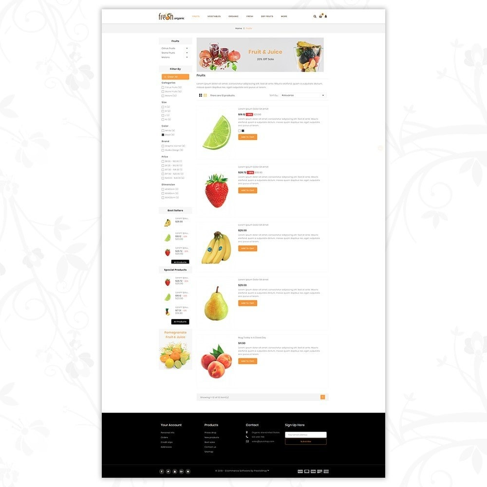 theme - Lebensmittel & Restaurants - Fresh Organic Store - 4