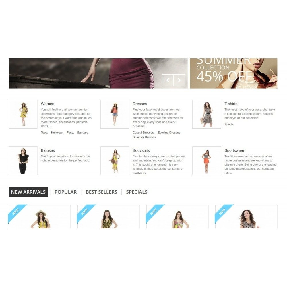 module - Blocos, Guias & Banners - Homepage Categories - Configurable thumbs, layout, ... - 1