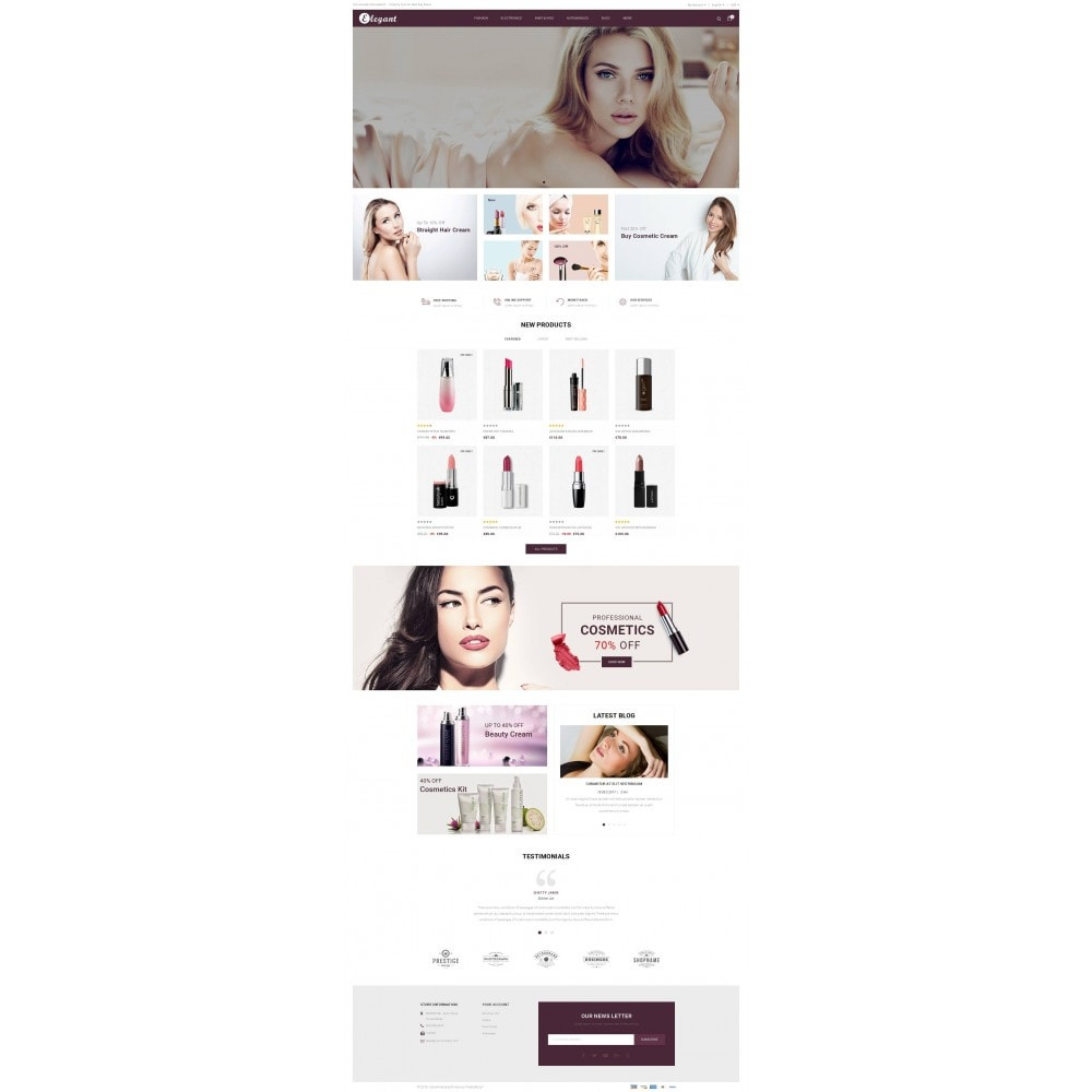 theme - Health & Beauty - Elegant - Beauty Store - 2
