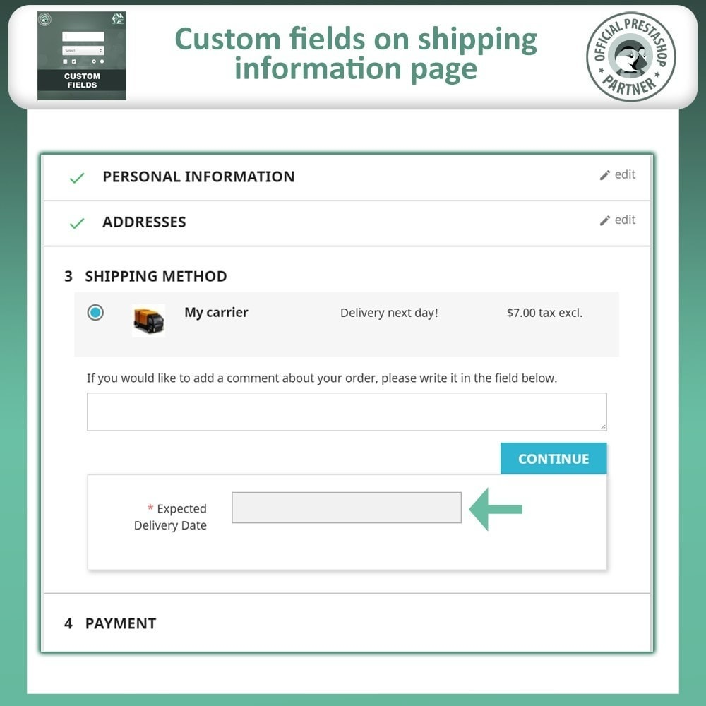 module - Registration & Ordering Process - Custom Fields, Add Extra Field to Checkout / Order Page - 6