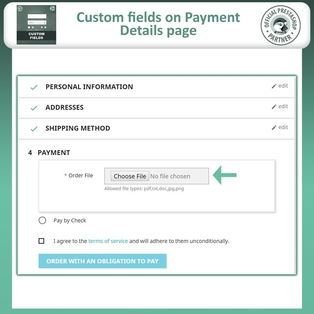 module - Registration & Ordering Process - Custom Fields, Add Extra Field to Checkout / Order Page - 7
