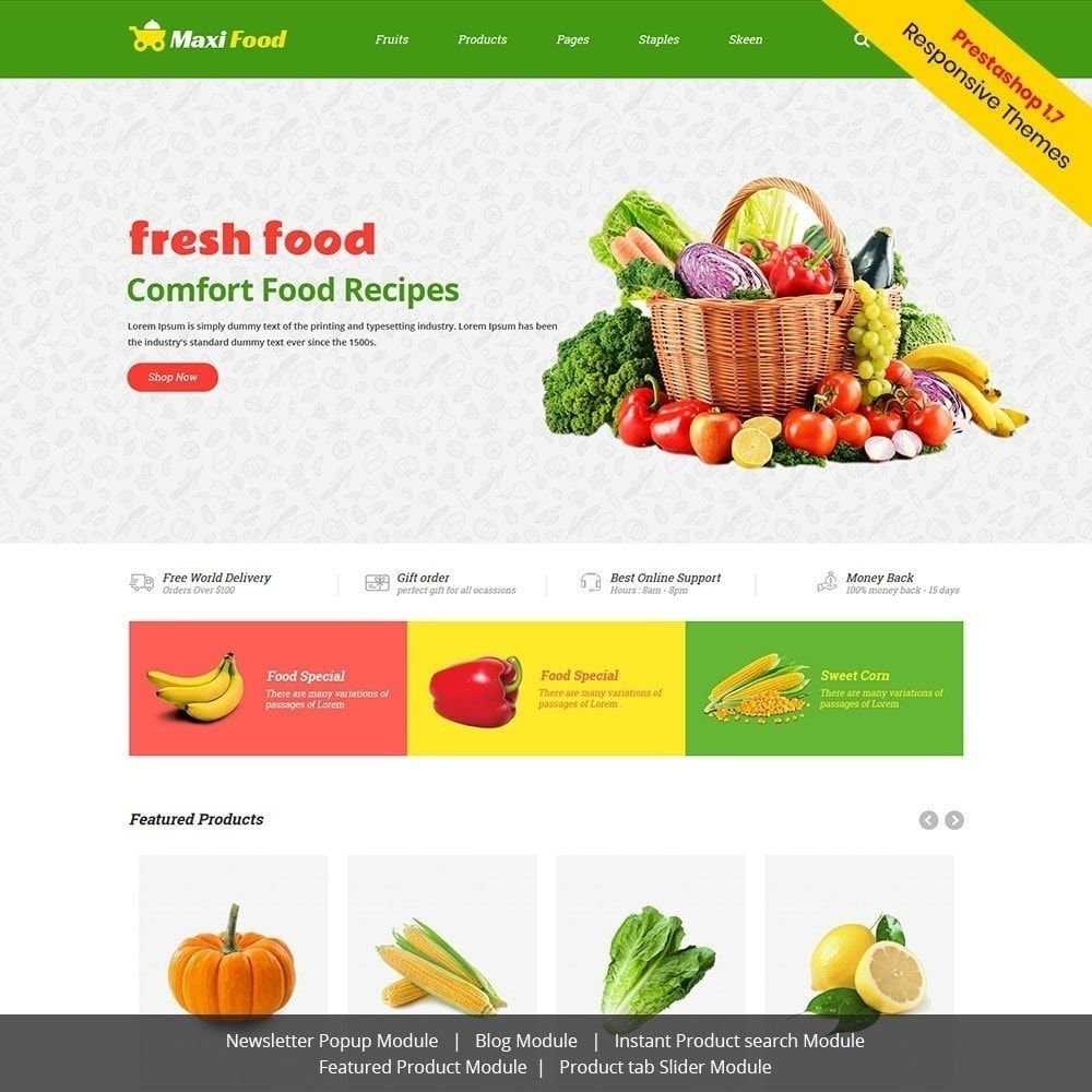 theme - Alimentos & Restaurantes - Maxi Food Fruit - Loja de Legumes - 4