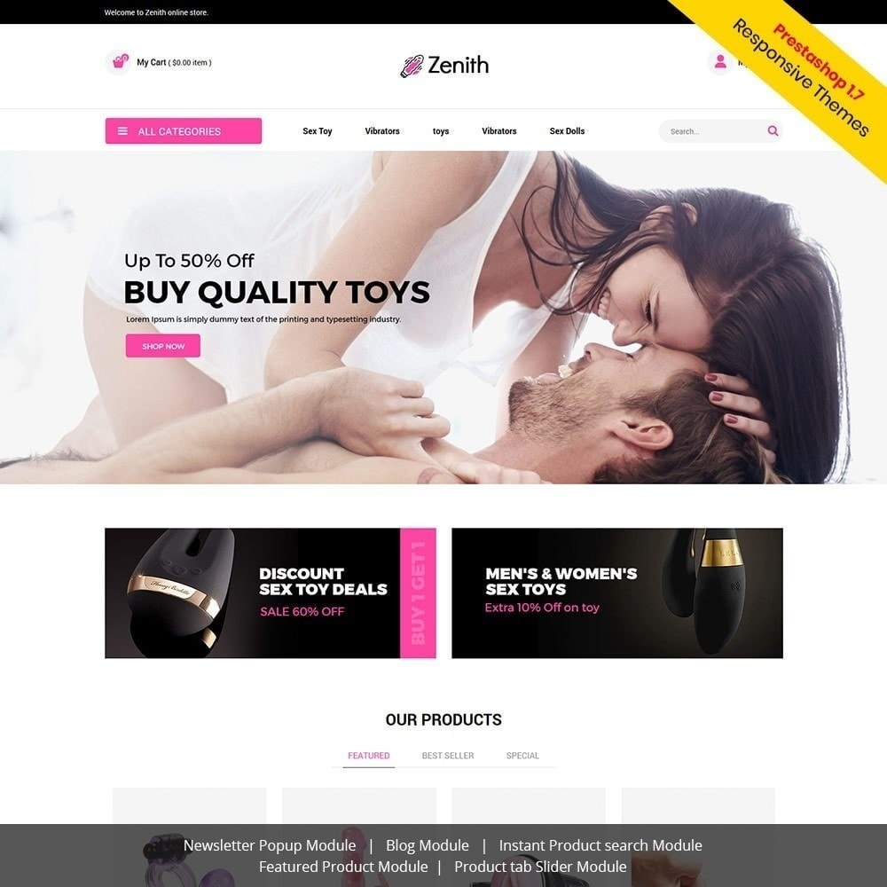 theme - Bielizna & Dorośli - Zenith Lingerie - Adult Sex Store - 4