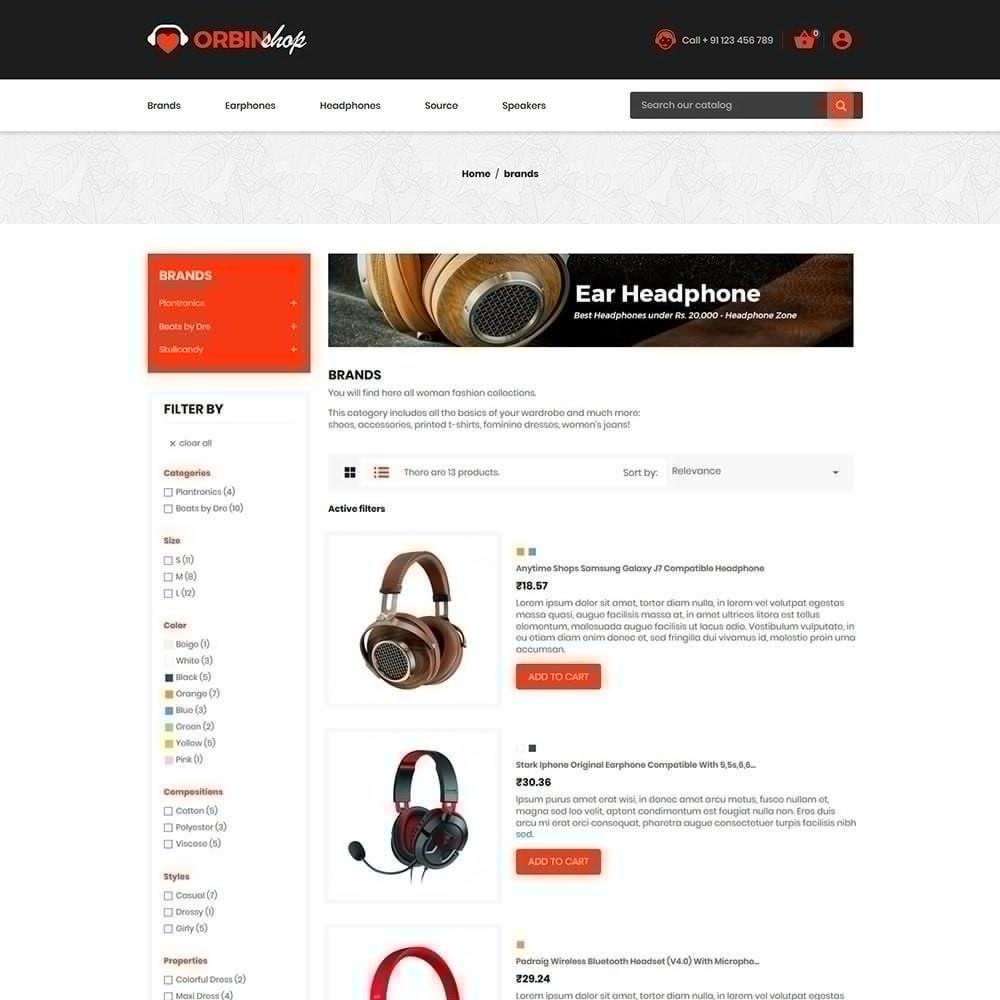 theme - Elektronika & High Tech - Orbin Electronics Mobile - Sklep komputerowy - 5