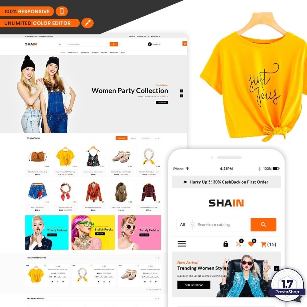 theme - Mode & Schoenen - Shain Fashion Stylish Stop - 1