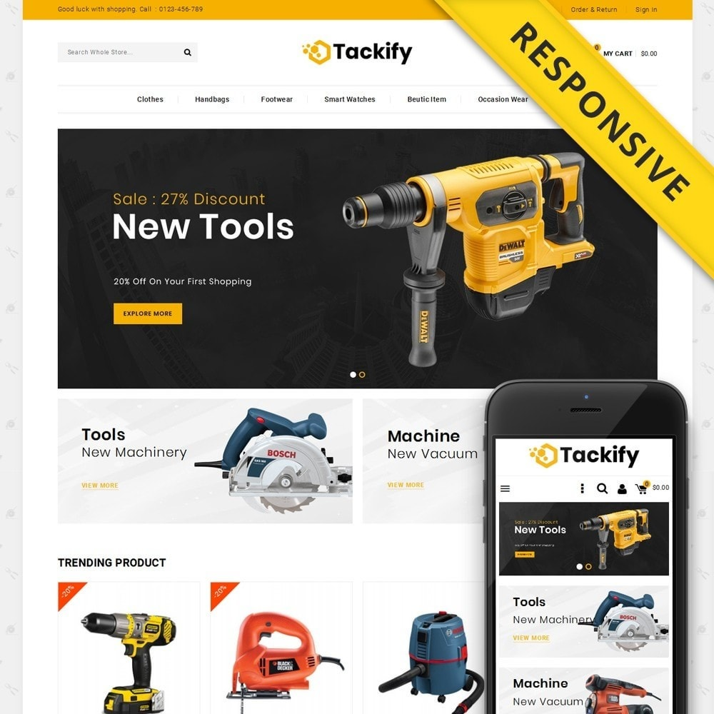 theme - Elektronika & High Tech - Tackify - Tools Store - 1