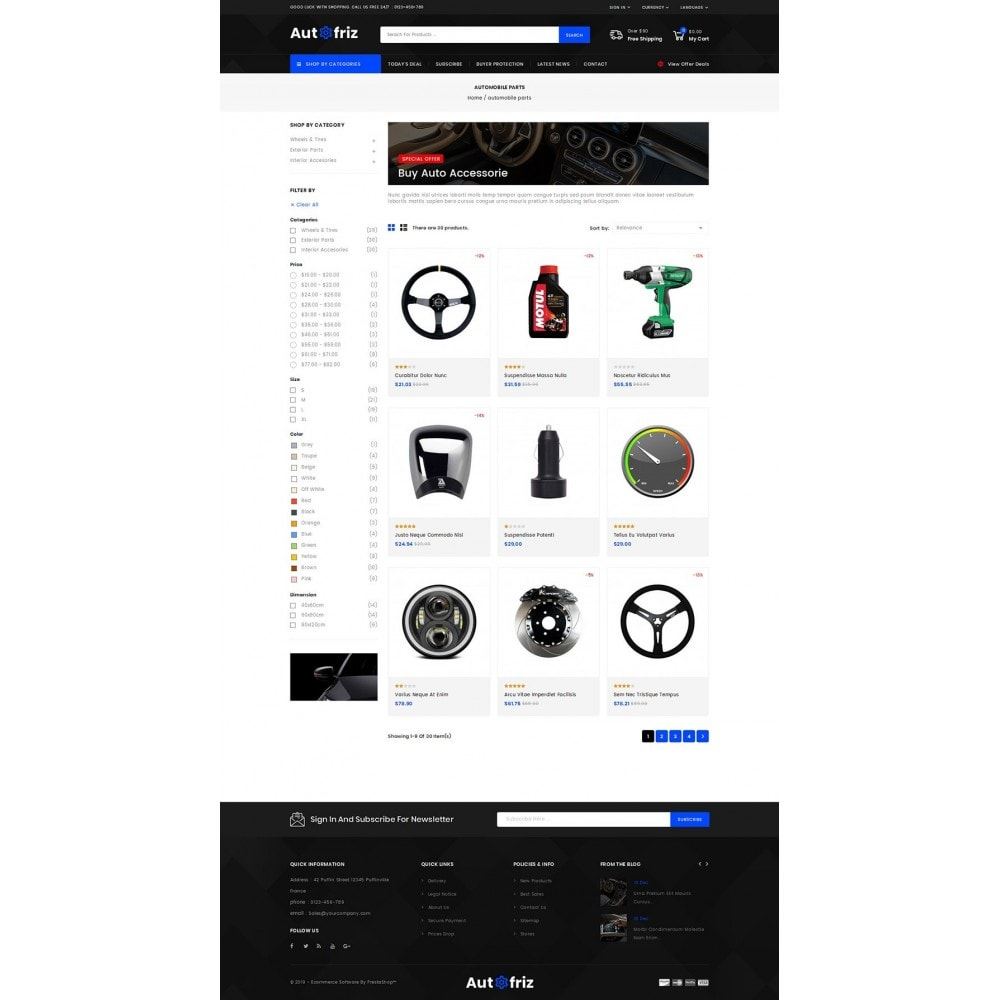 theme - Carros & Motos - AutoFriz - Spare Parts Store - 3