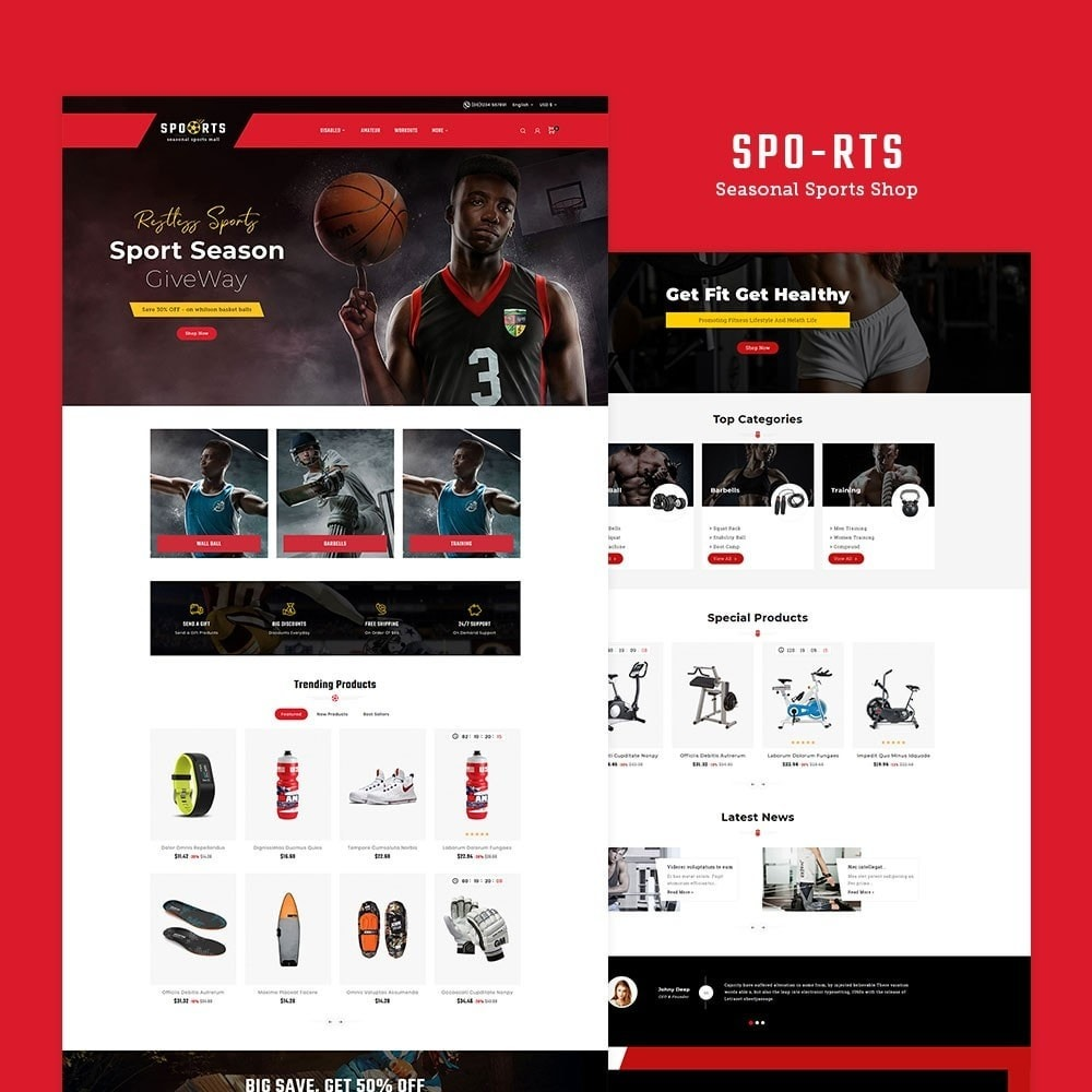 theme - Desporto, Actividades & Viagens - Sports - Seasonal Activities Mall - 2