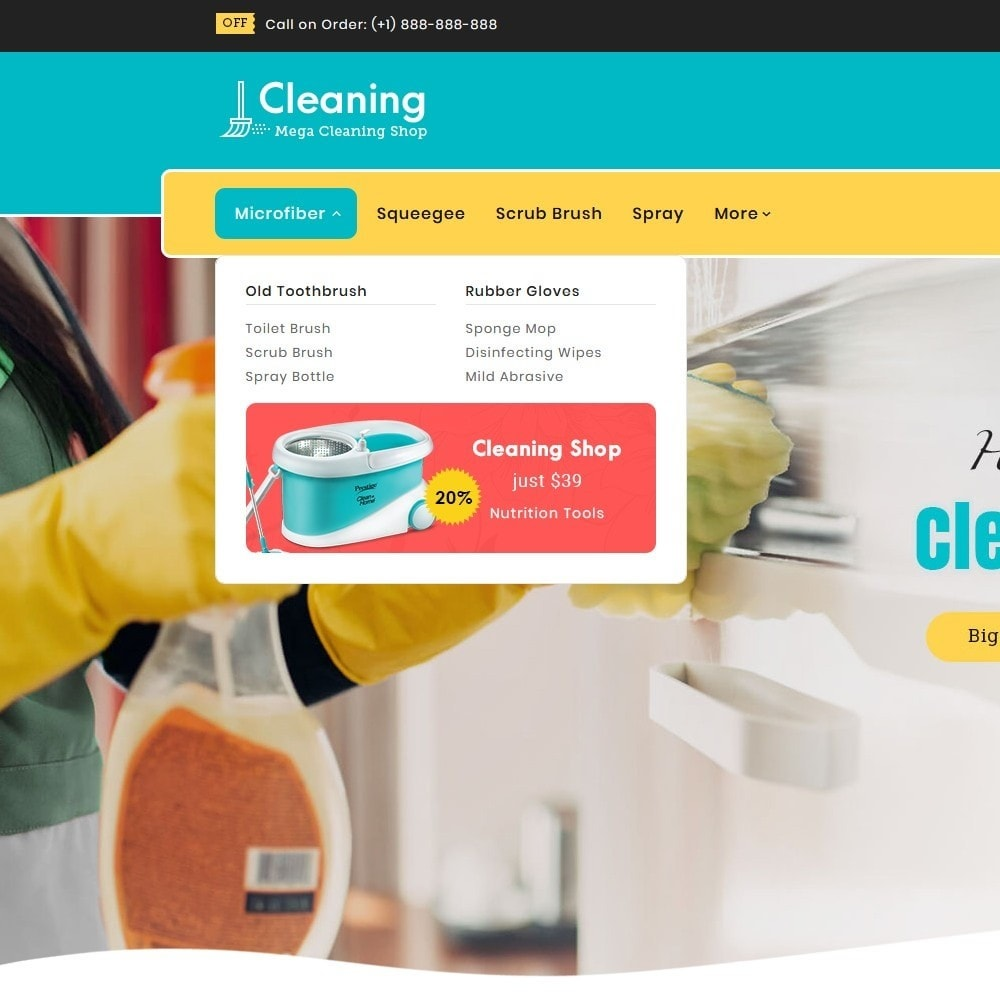 theme - Home & Garden - Cleaning Tools & Washing Service - 9