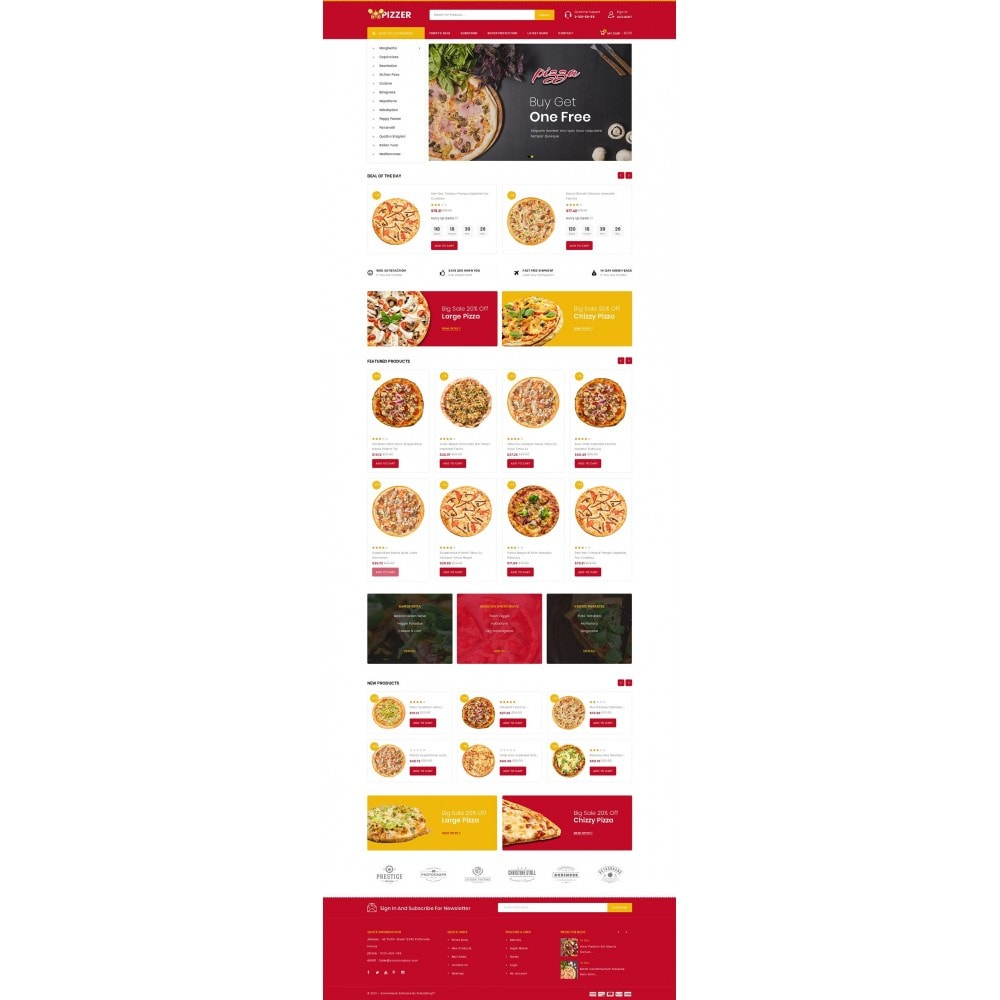 theme - Lebensmittel & Restaurants - Pizzer - Restaurant Store - 2