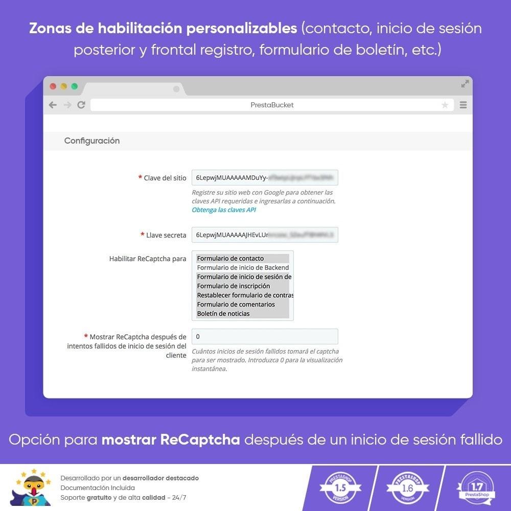 module - Seguridad y Accesos - CAPTCHA Google reCAPTCHA PRO + anti Cuentas Falsas - 3